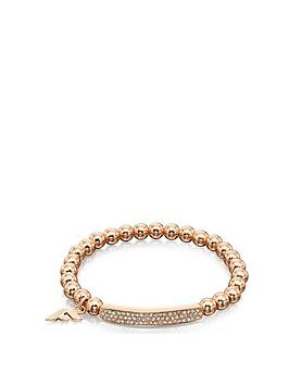 fiorelli-jewellery-paveacutenbsprose-gold-bead-stretch-bracelet