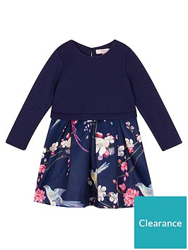 baker-by-ted-baker-girls039-navy-floral-mock-skirt-dress