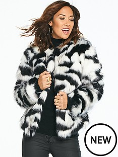 myleene-klass-faux-fur-coat-mono