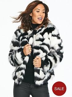 myleene-klass-faux-fur-coat-mono