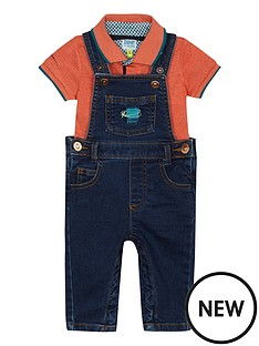 baker-by-ted-baker-baby-boys039-blue-denim-dungarees-and-orange-polo-shirt-set
