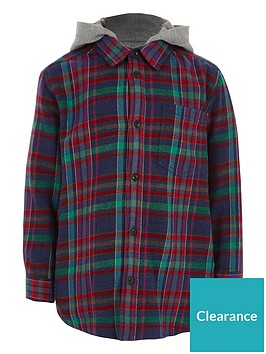 river-island-boys-navy-multicolour-check-hooded-shirt