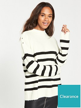 v-by-very-stripe-shoulder-detail-turtleneck-jumper