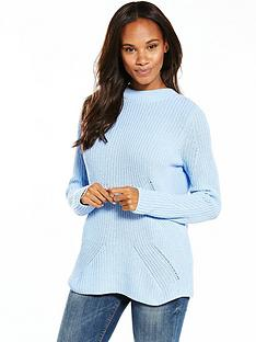 v-by-very-eyelet-lace-up-back-rib-jumper