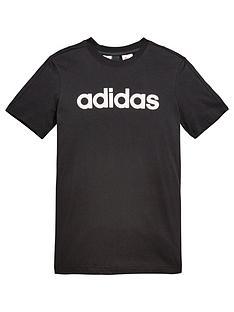 adidas-older-boy-linear-logo-tee
