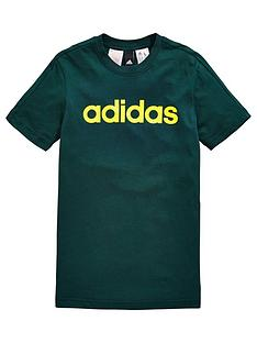 adidas-older-boy-linear-logo-tee