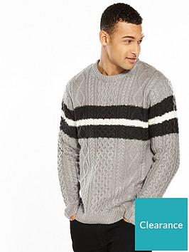 river-island-cable-stripe-jumper