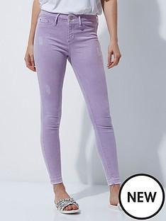 river-island-lilac-skinny-jeans