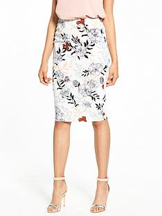 river-island-river-island-ditsy-floral-print-pencil-skirt