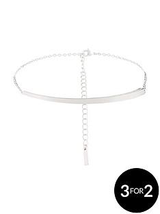 karen-millen-silver-colour-plated-swarovski-bracelet