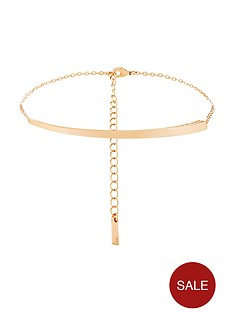 karen-millen-rose-gold-colour-plated-swarovski-crystal-choker