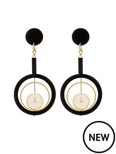 v-by-very-pearl-drop-circle-detail-earrings