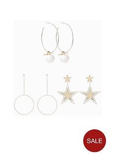 v-by-very-3pk-silver-earrings
