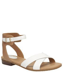 clarks-viveca-zeal4-wide-fit-cross-strap-flat-sandal-white