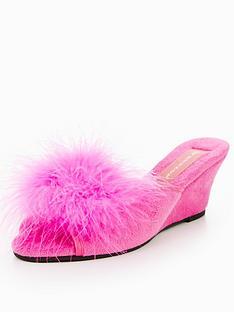 dunlop-fluffy-low-wedge-slipper