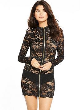 ann-summers-blaire-zipper-dress-black