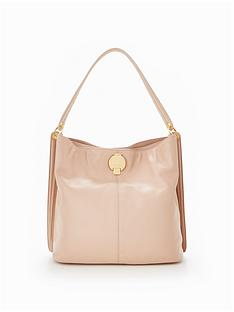 karen-millen-disc-fastening-slouch-bag-neutral