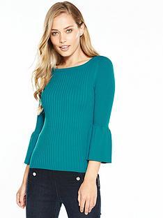 karen-millen-fluted-sleeve-knit-collection