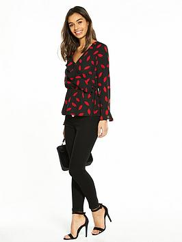 V by Petite Frill Very Blouse Wrap Outlet Enjoy Discount Shop 4NxmouC