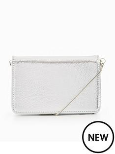 miss-selfridge-silver-cross-body-bag