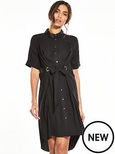 river-island-black-eyelet-shirt-dress