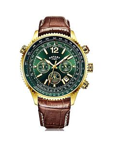 rotary-rotary-pilot-green-dial-brown-strap-mens-watch