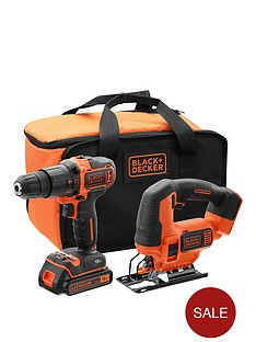 black-decker-18vnbsphammer-drill-18vnbspjigsaw-battery-charger-amp-storage-bag