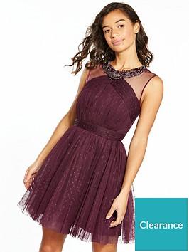 little-mistress-petite-tule-mini-dress