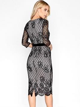 Black  Long Sleeve Little Mistress Dress Lace Midi Clearance Largest Supplier Discount Brand New Unisex Best Seller Online Best Prices aBA52DP