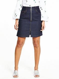 warehouse-warehouse-zip-through-skirt