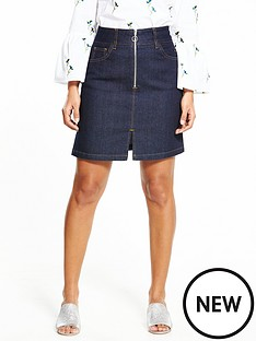warehouse-warehouse-zip-through-skirt