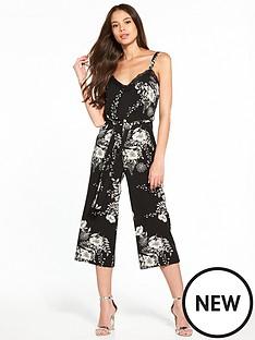miss-selfridge-monochrome-print-lace-trim-jumpsuit