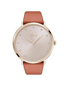boss-jilliannbspsilver-dial-brown-leather-strap-ladies-watch