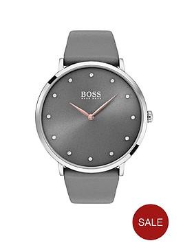 boss-jilliannbspgrey-dial-grey-leather-strap-ladies-watch