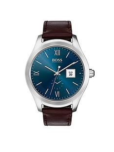hugo-boss-black-blue-dial-brown-strap-mens-touch-smart-watch