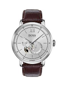 hugo-boss-black-1513505-signature-silver-dial-brown-leather-strapnbspmens-watch