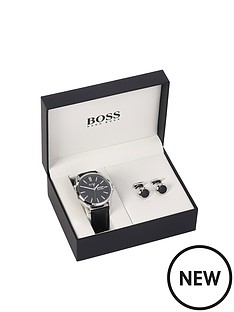 hugo-boss-black-hugo-boss-james-black-dial-day-date-leather-strap-mens-watch-and-cufflink-gift-set