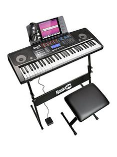 rockjam-rj761-sk-rockjam-61-key-midi-keyboard-piano-kit-with-keyboard-stand-piano-stool-sustain-pedal-and-headphones