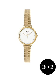 limit-limit-gold-plated-with-mesh-style-bracelet-ladies-watch