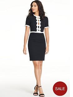 michelle-keegan-satin-trim-bow-dress