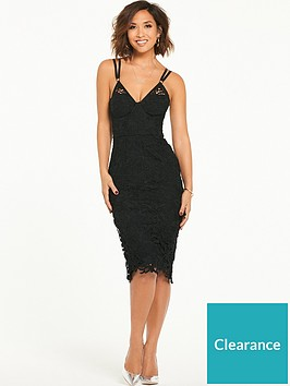myleene-klass-strap-detail-lace-bodycon-dress-black