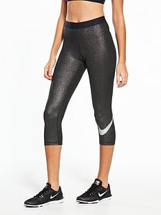 nike-training-pro-coolnbspshinenbspcapri-blacksilvernbsp