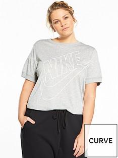 nike-sportswear-futura-t-shirt-plus-size--nbspgreynbsp
