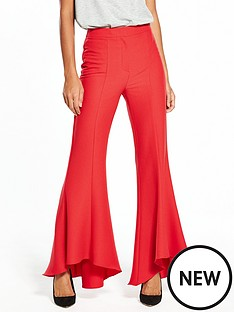 v-by-very-flared-hem-trouser-red