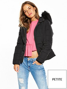 miss-selfridge-petite-padded-faux-fur-trim-hooded-jacket