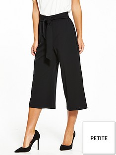 miss-selfridge-petite-culotte-trouser-black
