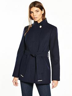 oasis-leah-short-funnel-neck-coat