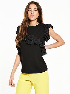 river-island-river-island-frill-detail-sleeveless-t-shirt