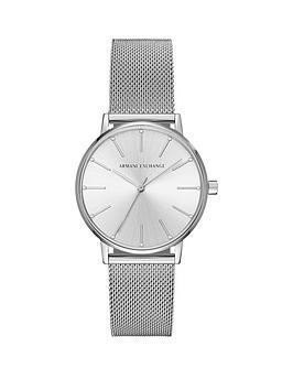 armani-exchange-lola-stainless-steel-mesh-bracelet-ladies-watch