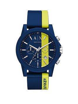 armani-exchange-armani-exchange-blue-and-yellow-silicone-strap-mens-watch